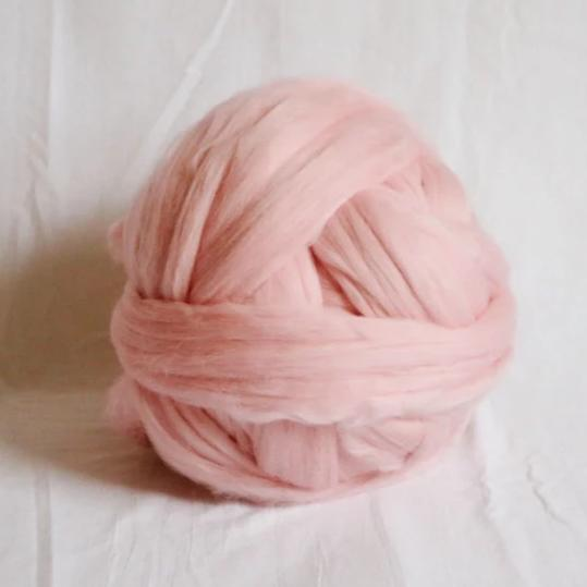 Bubble Gum Pink Merino Wool