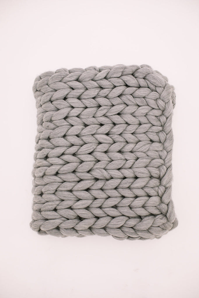 Light Grey Merino Wool Throw
