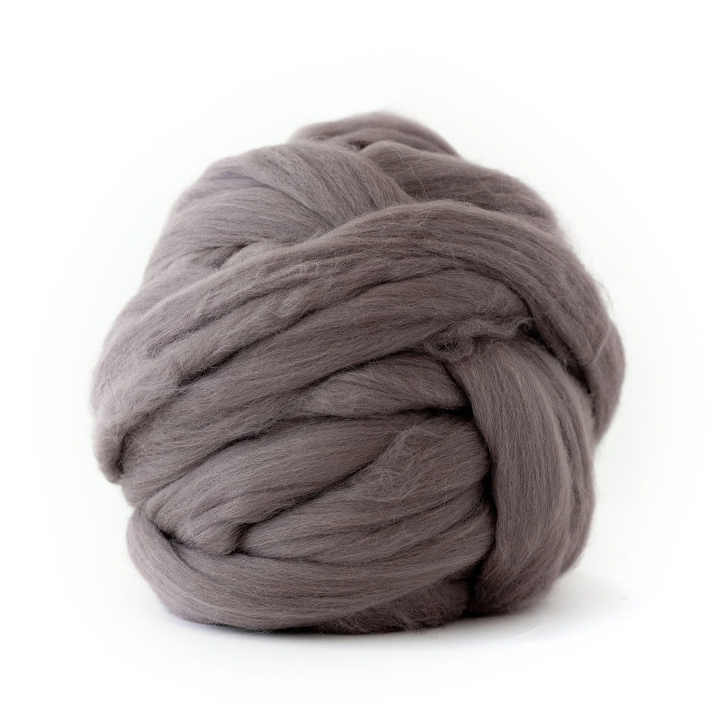Purple Grey Merino Wool