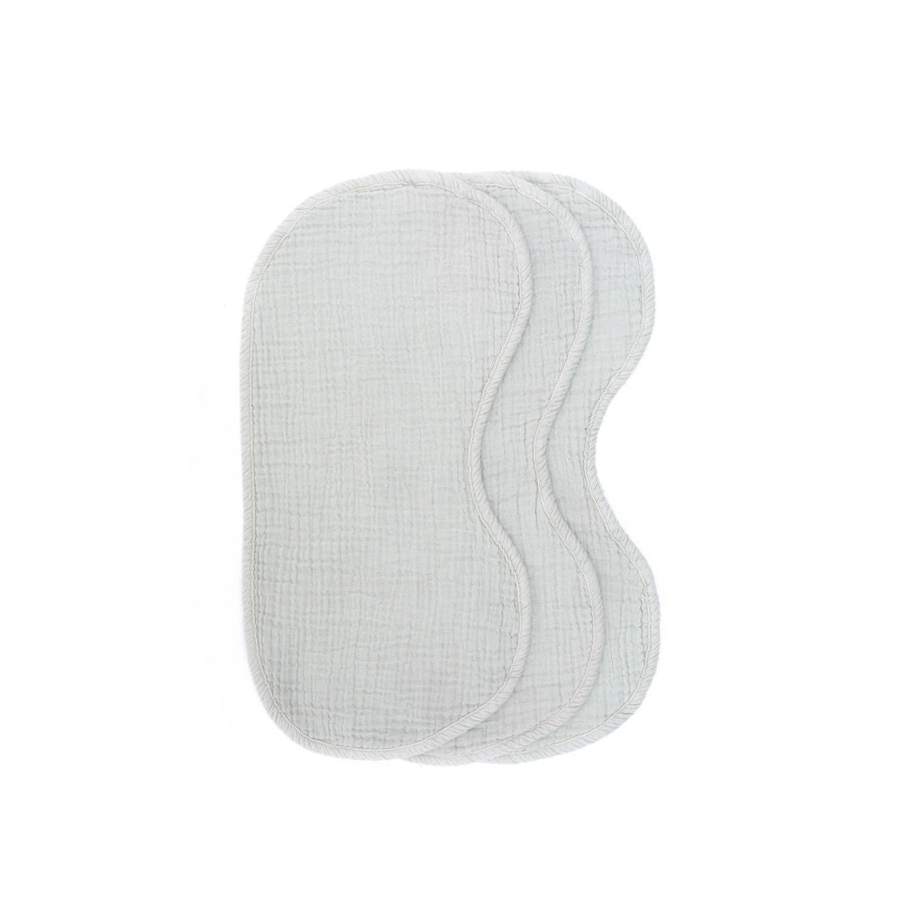 Fog Grey Cotton Burp Cloths