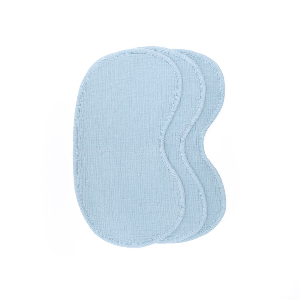Powder Blue Cotton Burp Cloths