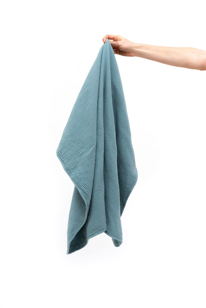 Cotton Baby Swaddle - Ocean Blue