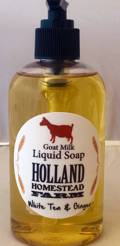 Glass Bottle Liquid Goat Milk Soap