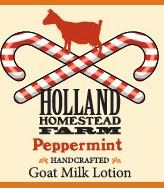 Glass Peppermint 4 ounce Goat Milk Lotion