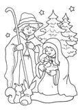 Mary & Joseph colouring page