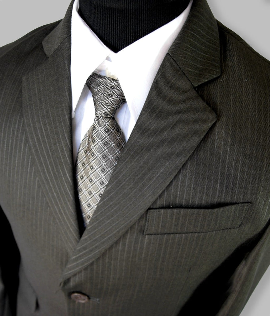 'Adam' Pinstripe Suit (Slate Grey)