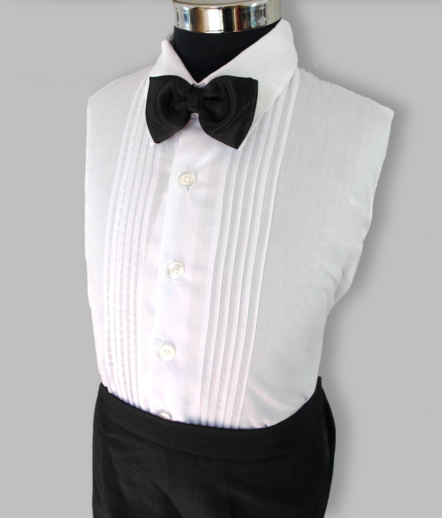 Boys black tuxedo 5 piece suit shirt