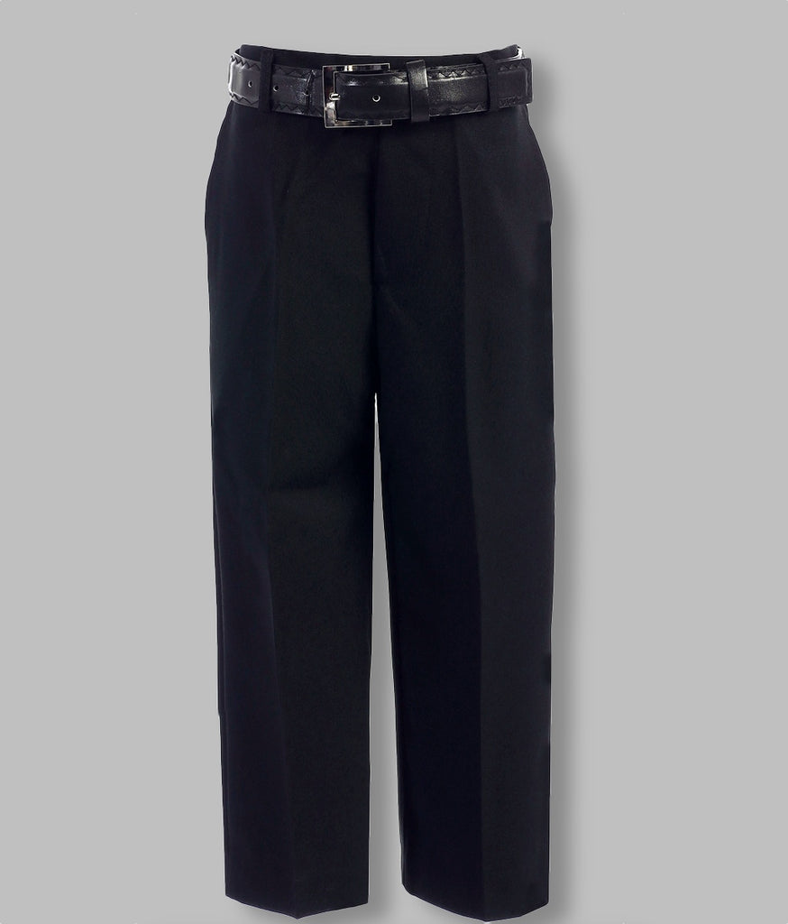 Boys Pants with Belt (Black)
