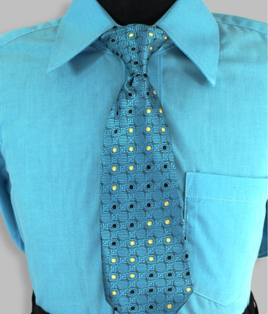 Boys vest suit set blue turquoise 4 piece