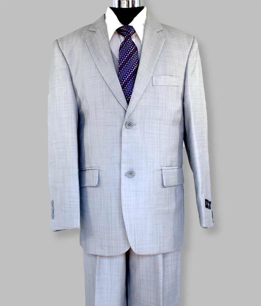 'Daniel' 5 piece Suit (Light Grey)