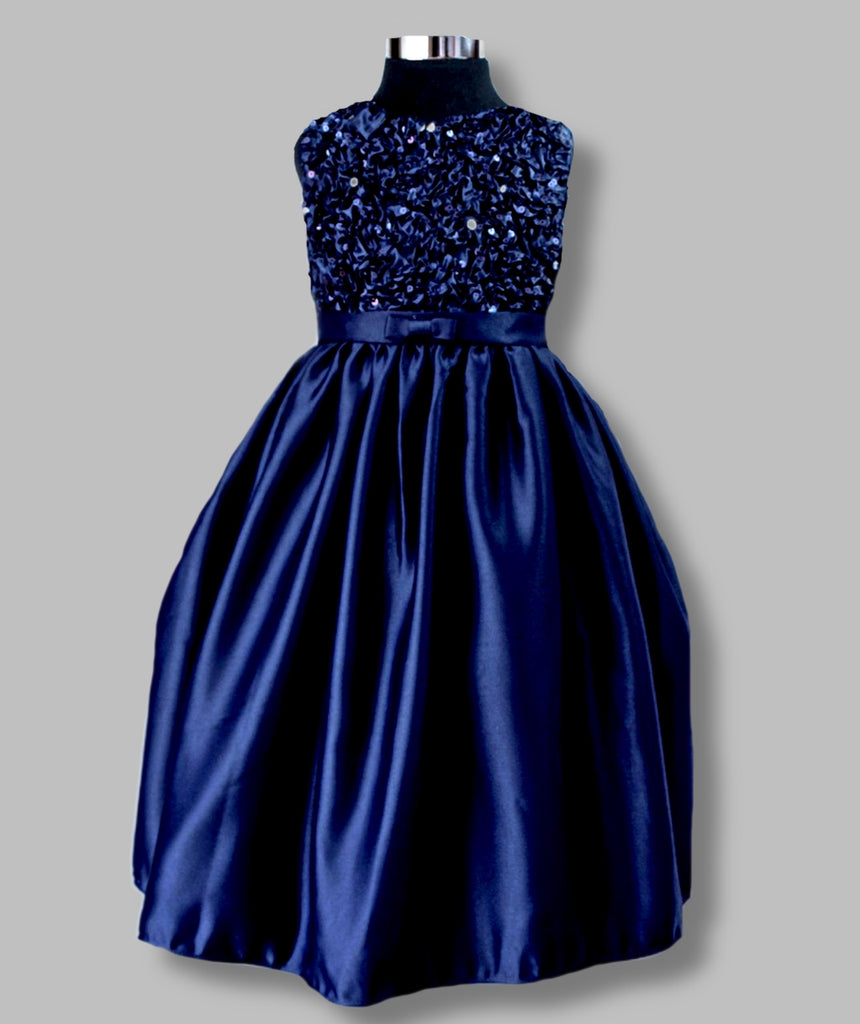 'Ebony' Navy sequin dress