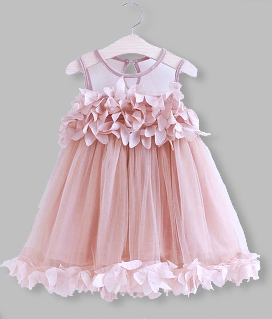 girls pink party birthday dress