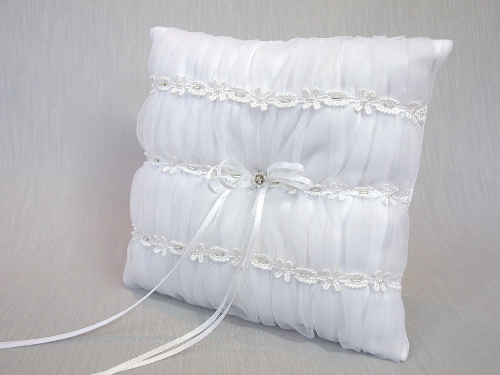 Organza ring pillow