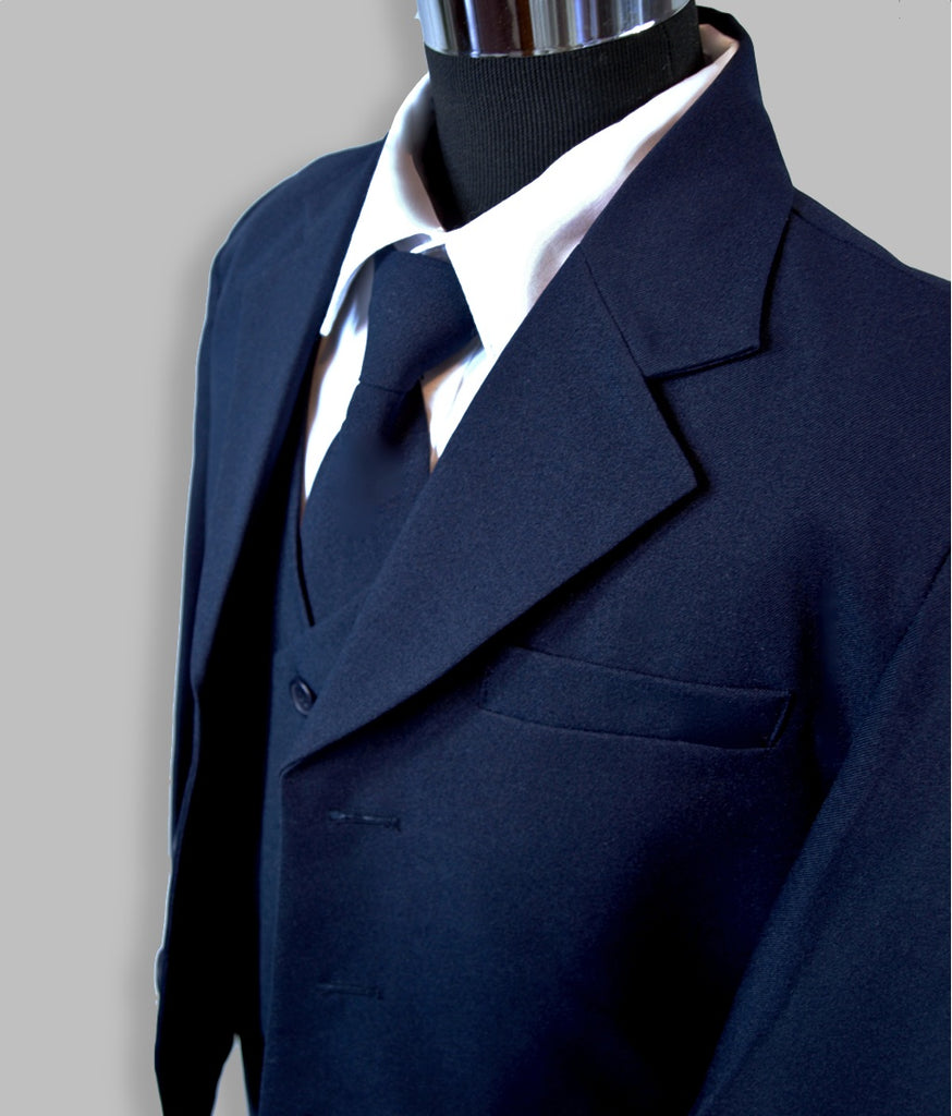 Boys premium navy blue suit 5 piece set