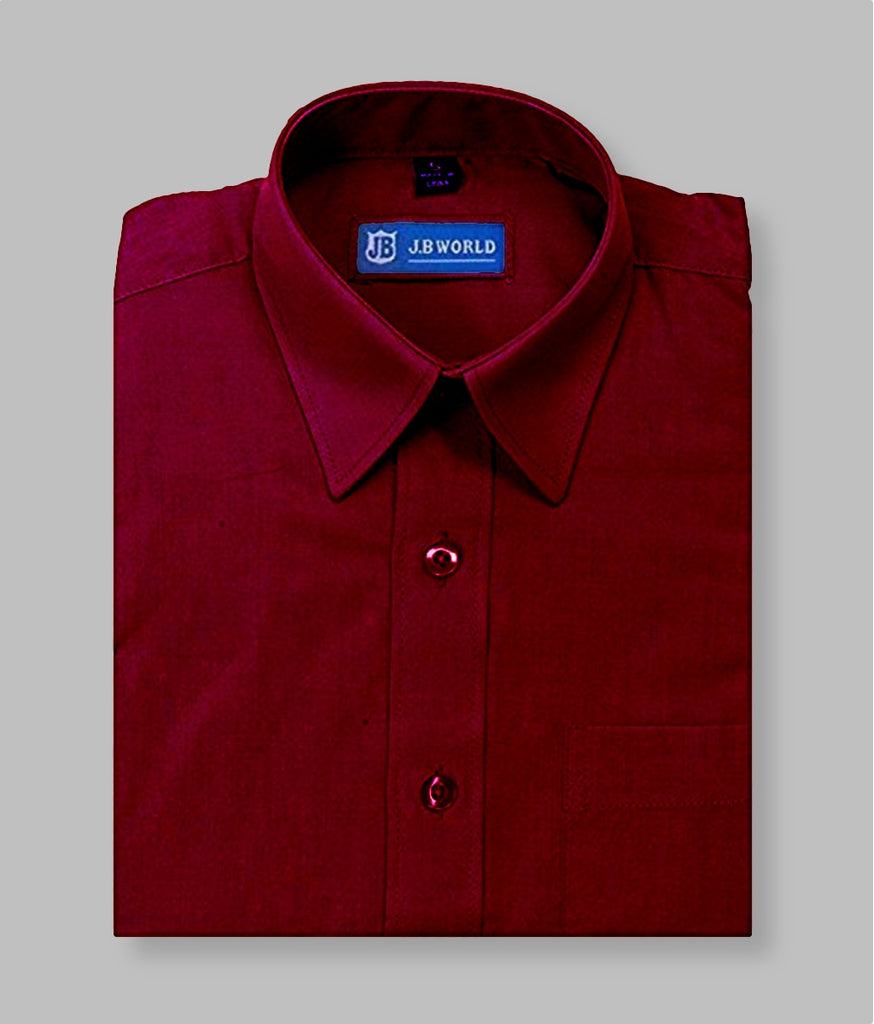 Burgundy boys dress shirt, red, maroon