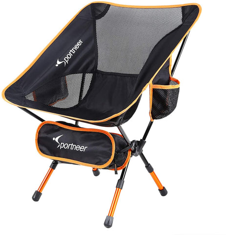 Sportneer lightweight camping chair with adjustable leg height