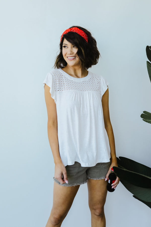 Alice Eyelet Top