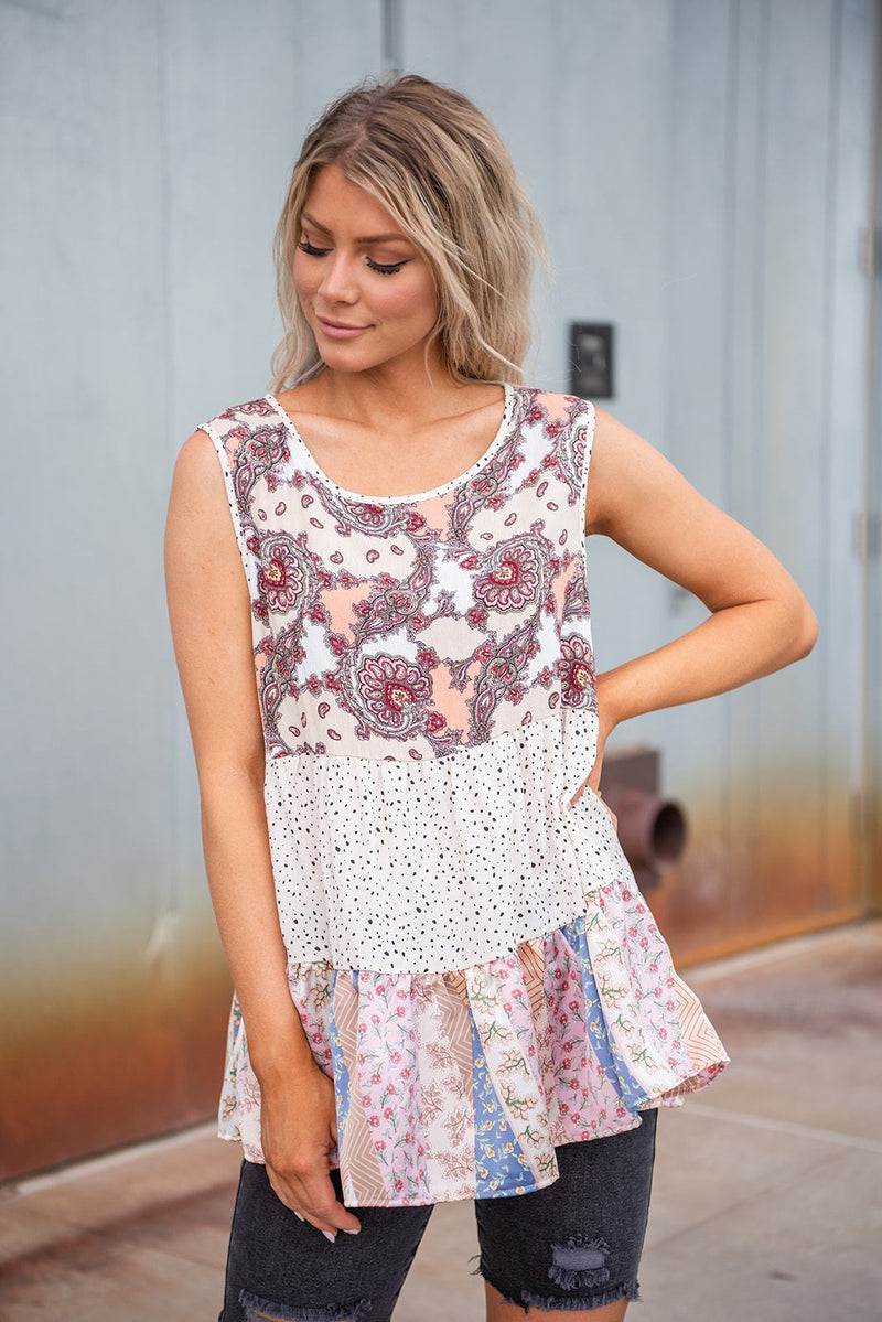 Summer Delight Tiered Sleeveless Top
