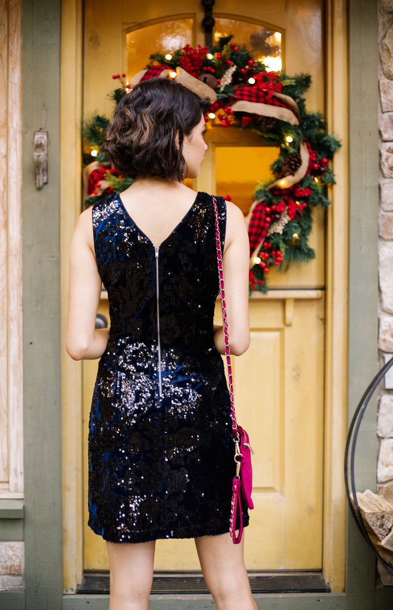 A Kiss At Midnight Sequin Dress