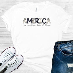 America My Country Tis Of Thee Graphic Tee Graphic Tee