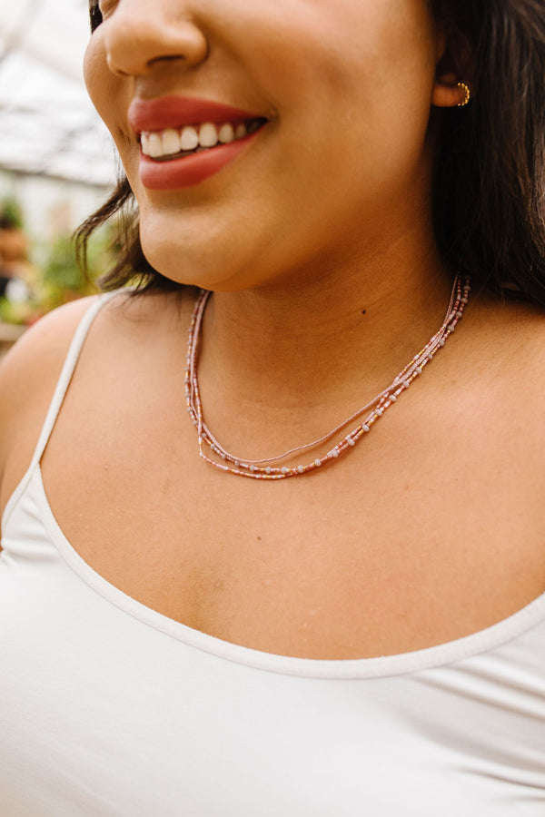 Beads & Braids Blush Necklace