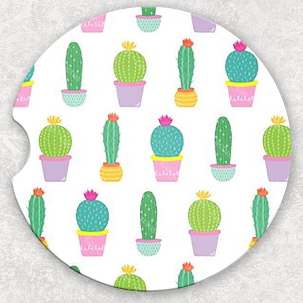 Car Coaster Set - Cactus