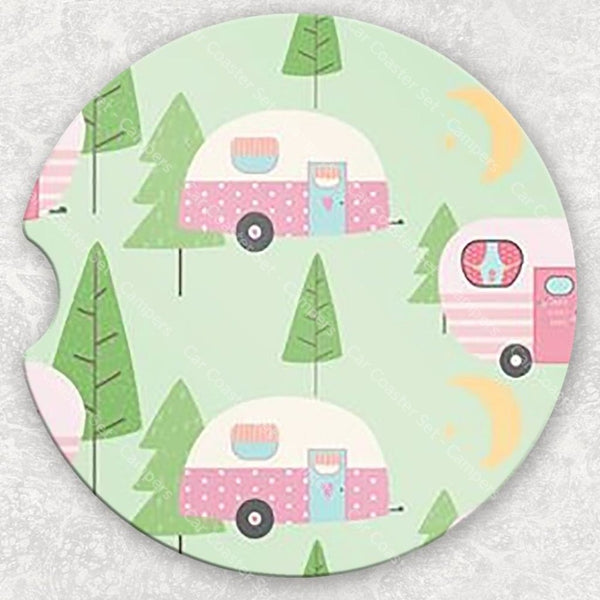 Car Coaster Set - Campers