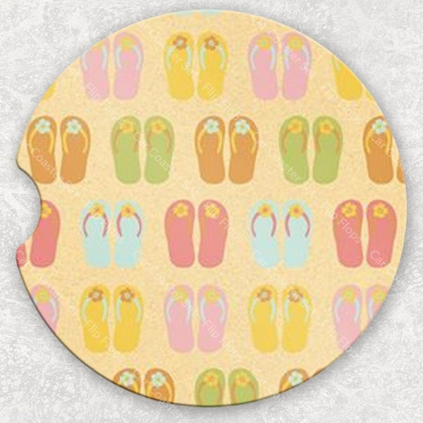 Car Coaster Set - Flip Flops