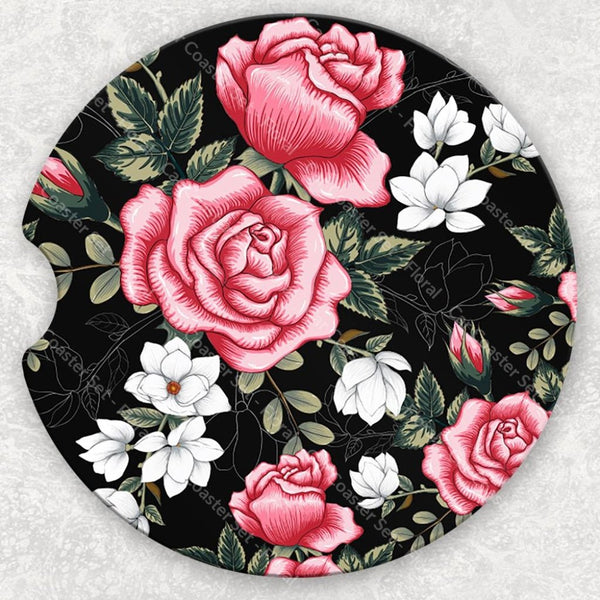 Car Coaster Set - Floral