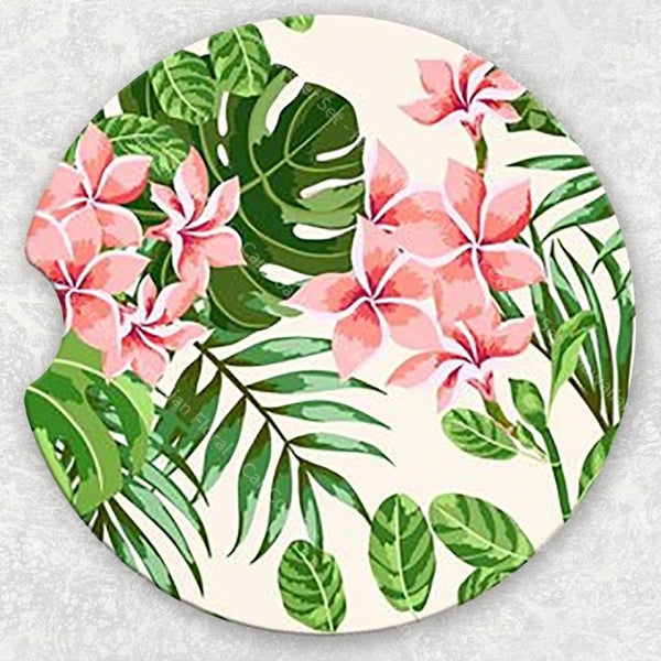 Car Coaster Set - Hawaiian Floral