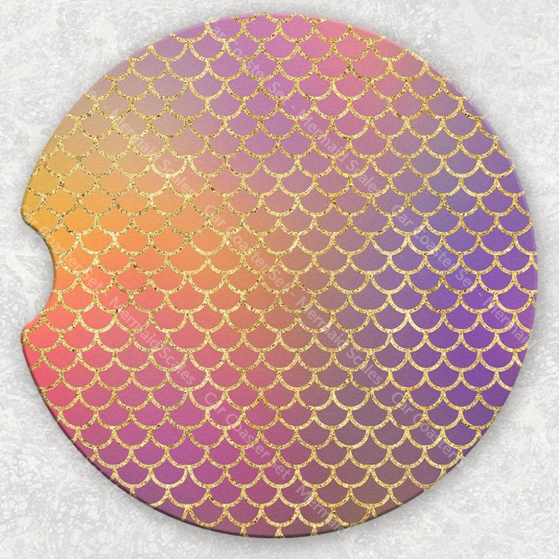 Car Coaster Set - Mermaid Scales