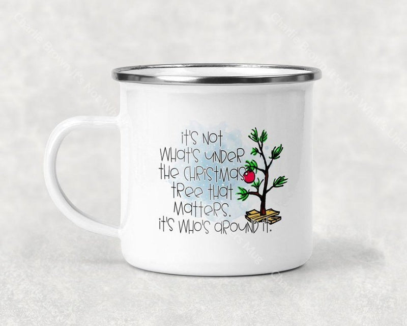 Charlie Brown Its Not Whats Under The Tree That Matters Mug Coffee