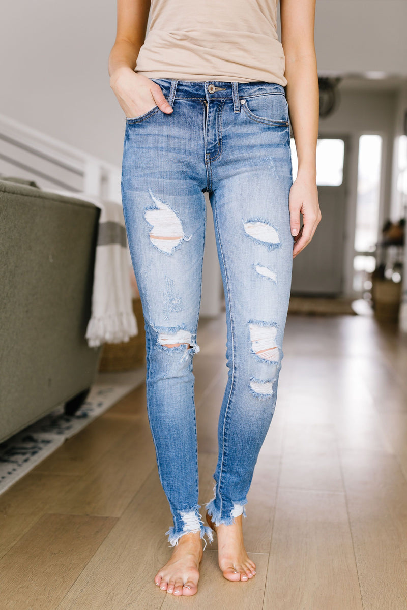 Cuff 'Em Destroyed Jeans