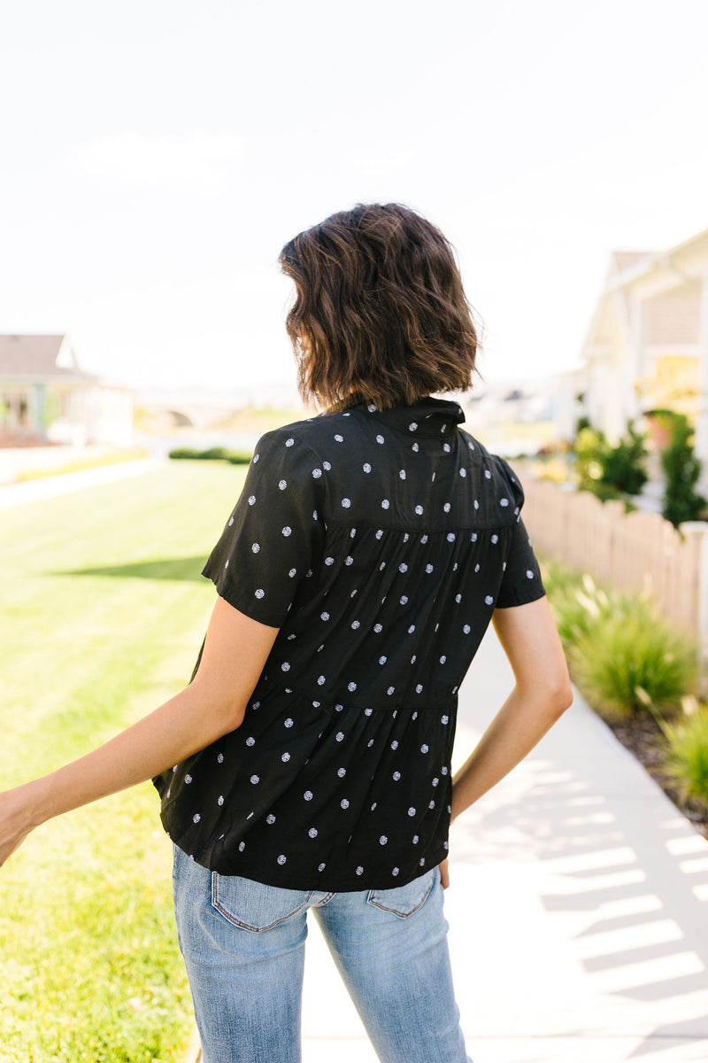 Faded Spots Button-Down In Black