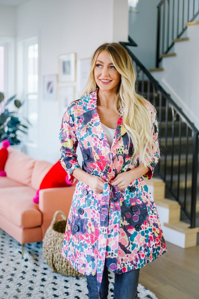 Floral Whimsy Trench