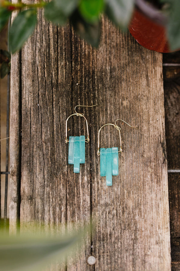 Good Things Earrings In Aqua