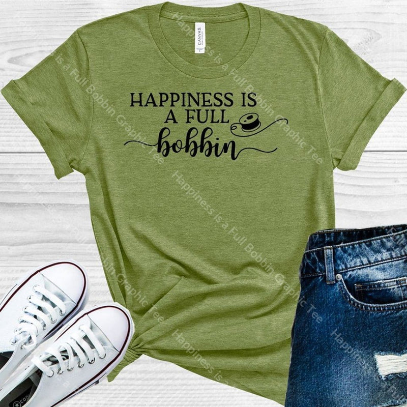 Happiness Is A Full Bobbin Graphic Tee Graphic Tee