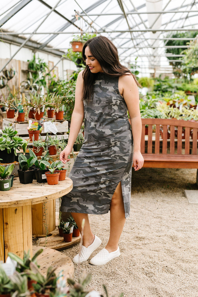 Hold Down The Fort Camouflage Dress