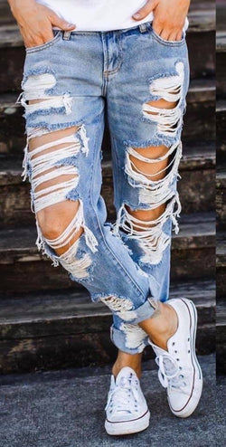 Cello Destructive Boyfriend Jeans