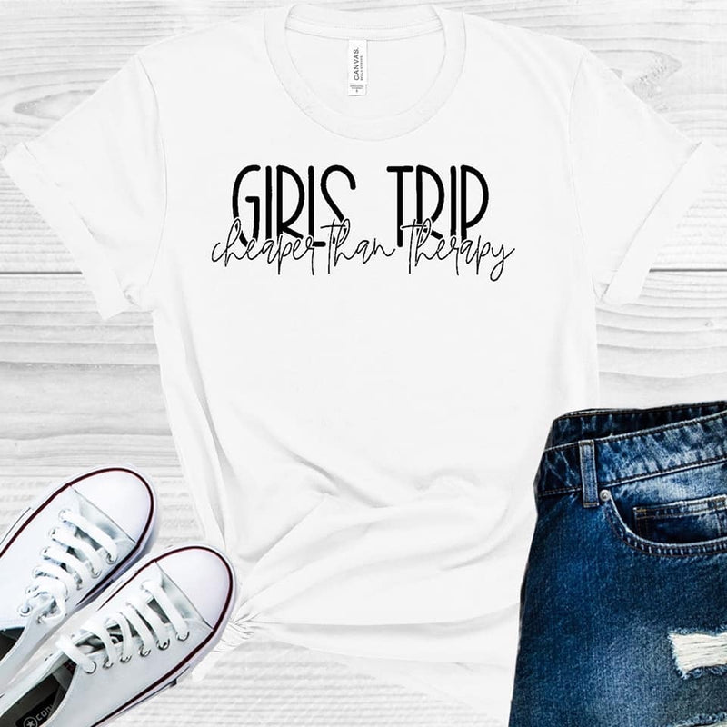 Girls Trip Cheaper than Therapy- Charity Pink M