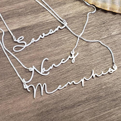 "Gold plated name necklace - ""Amelia"""