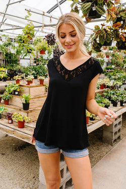 Lace & Grace Top In Black