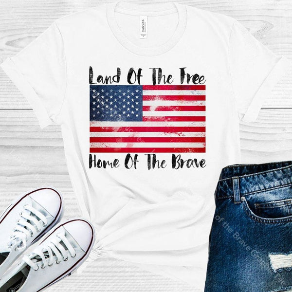 Land Of The Free Home Brave Graphic Tee Graphic Tee