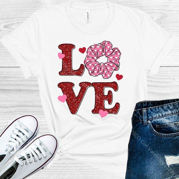 Love Scrunchie Vsco Girl Valentines Day Graphic Tee Graphic Tee