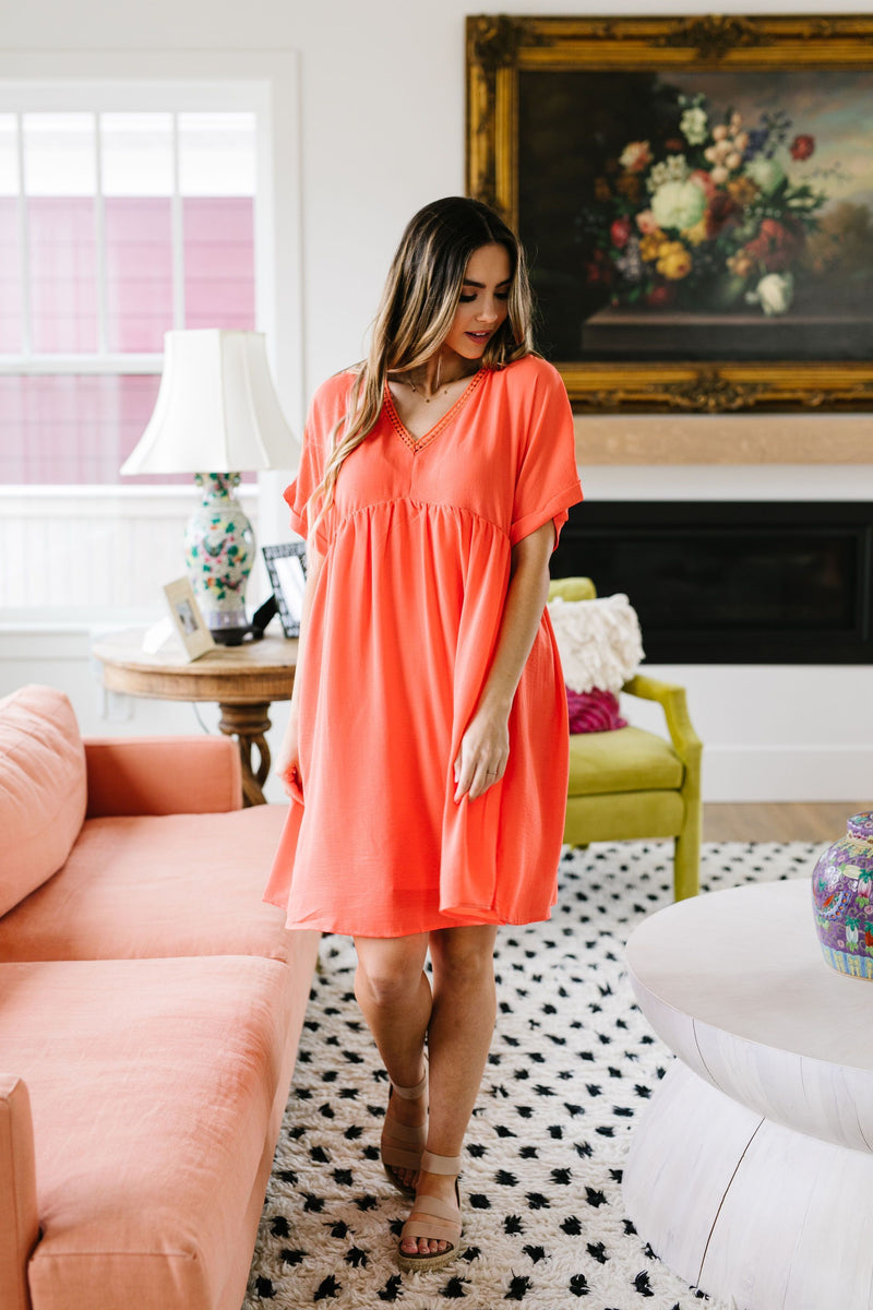 Lovely Little Dress In Orange