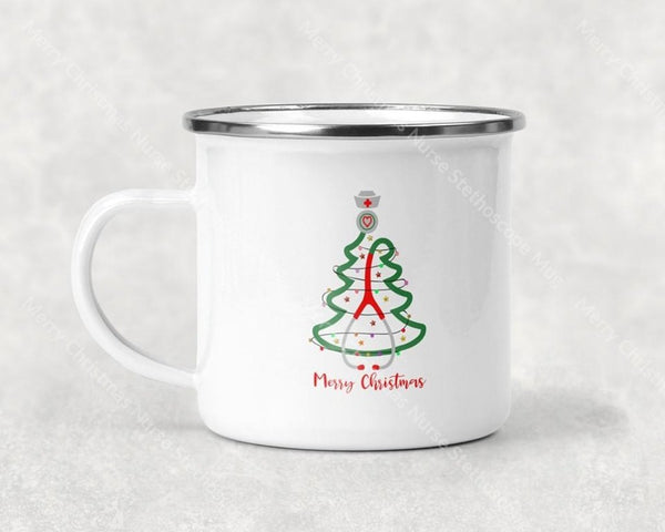 Merry Christmas Nurse Stethoscope Mug Coffee