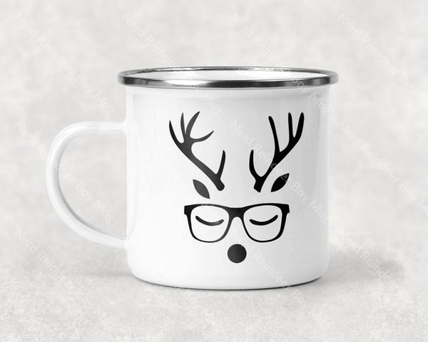 Nerd Reindeer Boy Mug Coffee