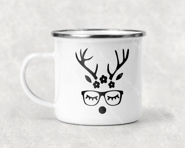 Nerd Reindeer Girl Mug Coffee
