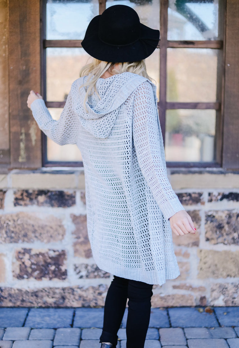 Open Arms Hooded Cardigan