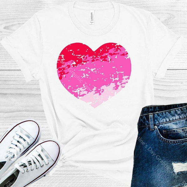 Pink Ombre Heart Valentines Day Graphic Tee Graphic Tee